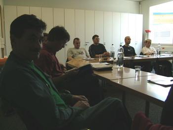Teilnehmer von Links nach rechts Markus Teuscher, Andreas Ruess, Gerhard Mayer, Gerd Albiez, Rene Metzger, Marko Mihalj